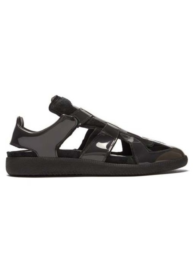 Maison Margiela Replica cut-out suede & PVC trainers