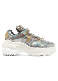 Maison Margiela Retro Fit iridescent low-top leather trainers