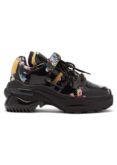 Maison Margiela Retro Fit Kawaii-print patent-leather trainers