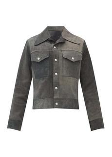 Maison Margiela Reversible suede and leather jacket
