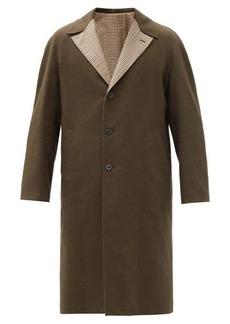 Maison Margiela Reversible wool and cotton-blend coat