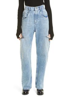 Maison Margiela Ripped Side Cutout Jeans