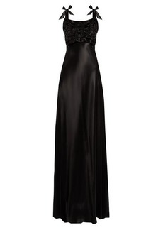 Maison Margiela Ruched-bodice satin gown
