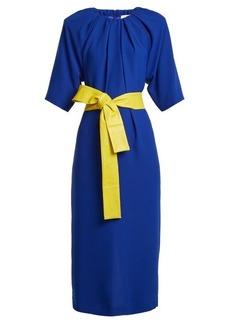 Maison Margiela Ruched-neck crepe dress