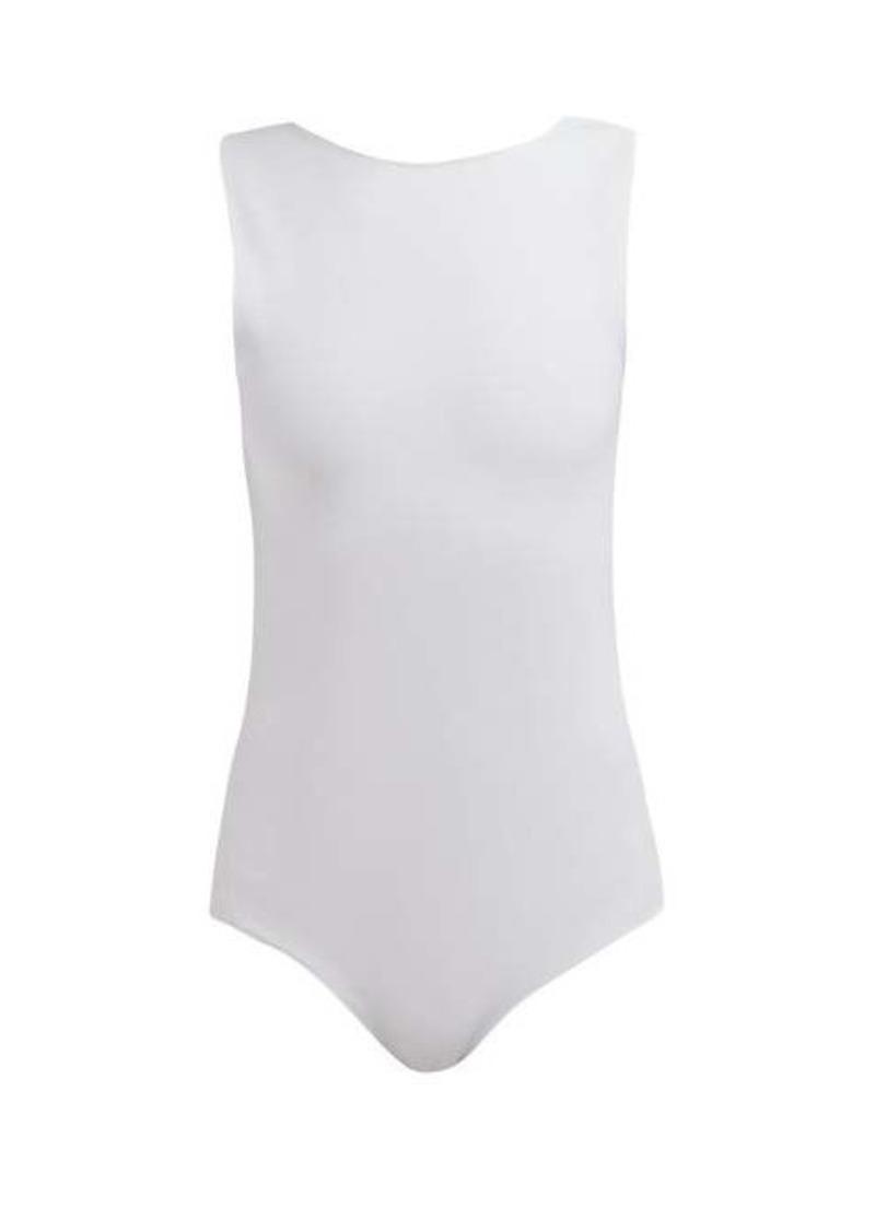 Maison Margiela Scoop-back stretch-jersey bodysuit