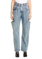 Maison Margiela Side Slit Wide Leg Jeans
