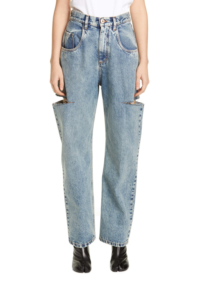 Maison Margiela Side Slit Wide Leg Jeans