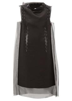 Maison Margiela Silk-organza overlay dress