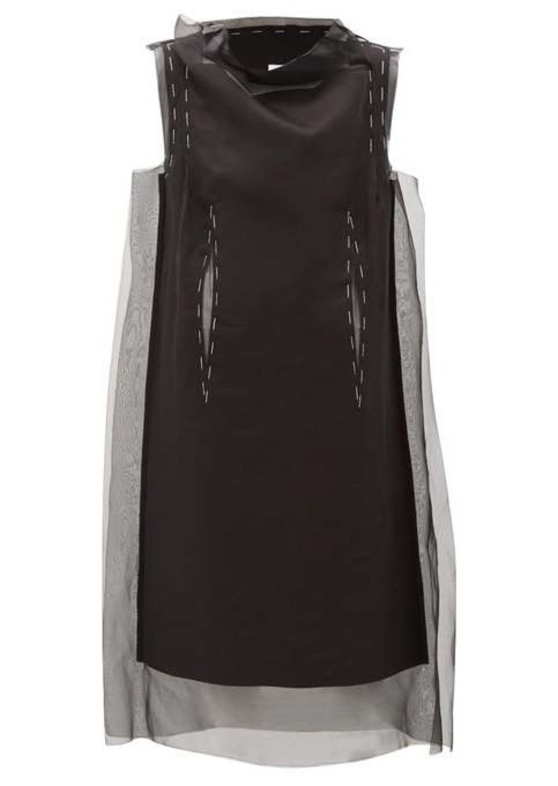 Maison Margiela Silk-organza overlay dress