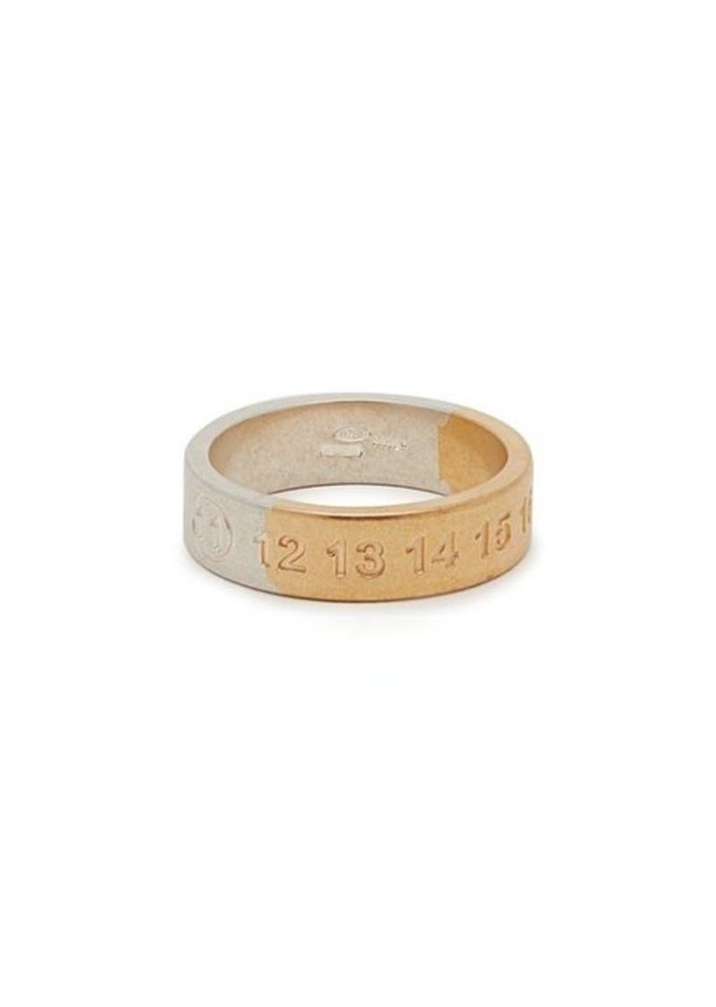 Maison Margiela Silver and gold-tone numbers ring