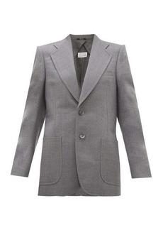 Maison Margiela Single-breasted longline wool-blend blazer