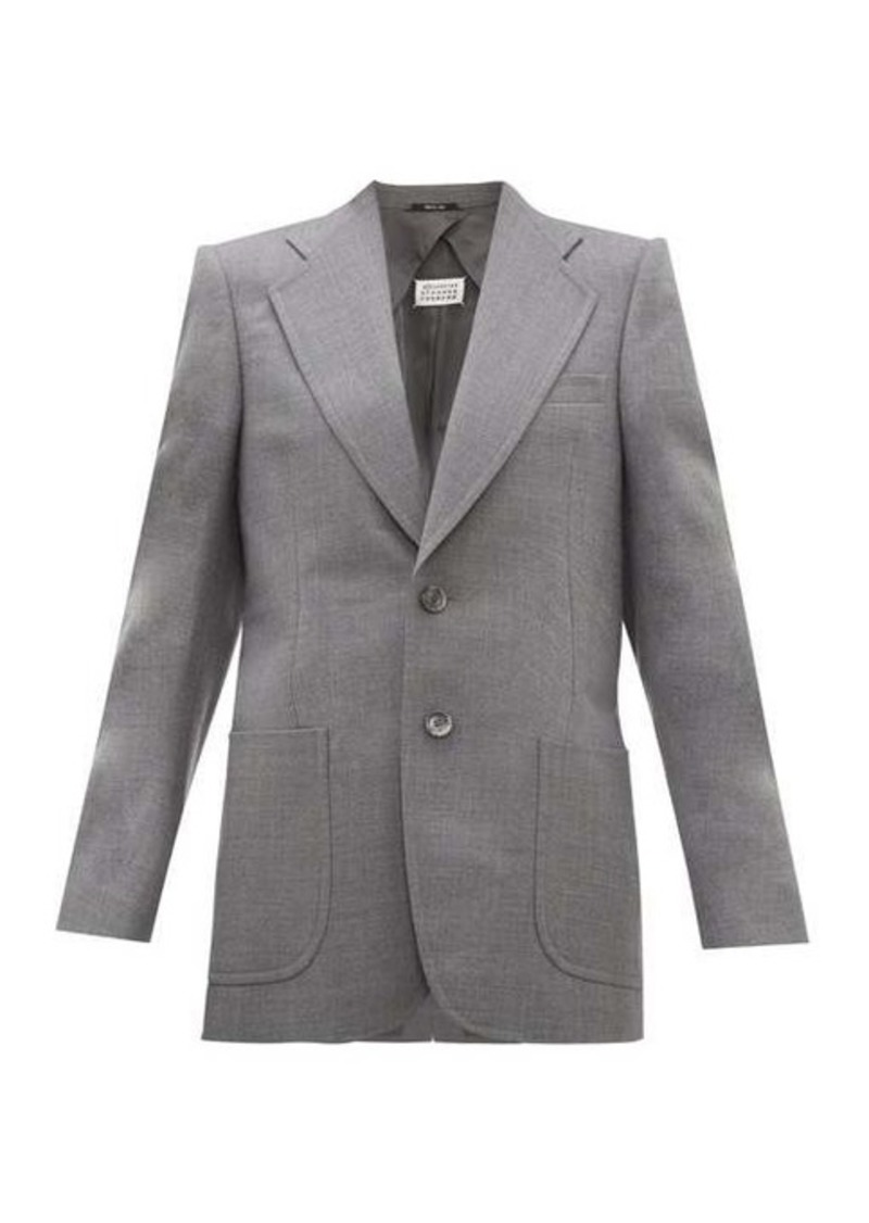 Maison Margiela Single-breasted longline wool-blend blazer