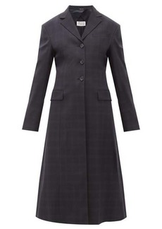 Maison Margiela Single-breasted windowpane-check wool-blend coat