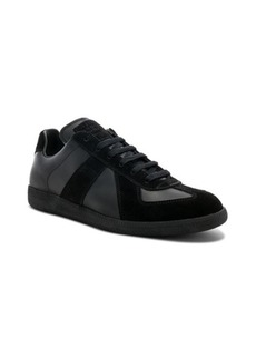 Maison Margiela Soft Leather & Velour Replica Sneakers