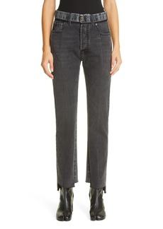 Maison Margiela Straight Leg Step Hem Jeans