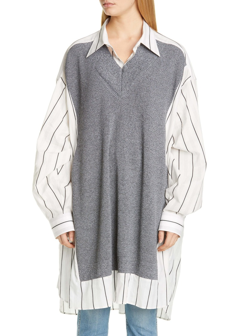 Maison Margiela Stripe Oversize Cotton Shirt