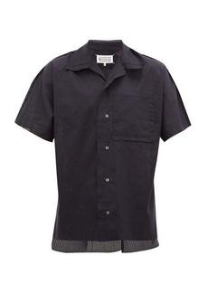 Maison Margiela Striped cotton bowling shirt