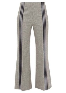 Maison Margiela Striped houndstooth wool trousers