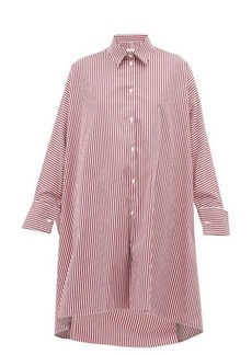 Maison Margiela Striped oversized cotton shirt