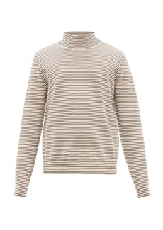 Maison Margiela Striped roll-neck wool sweater