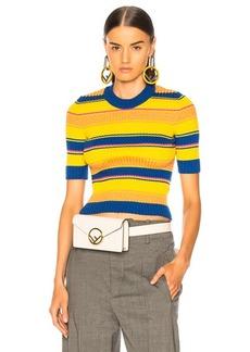 Maison Margiela Striped Short Sleeve Sweater