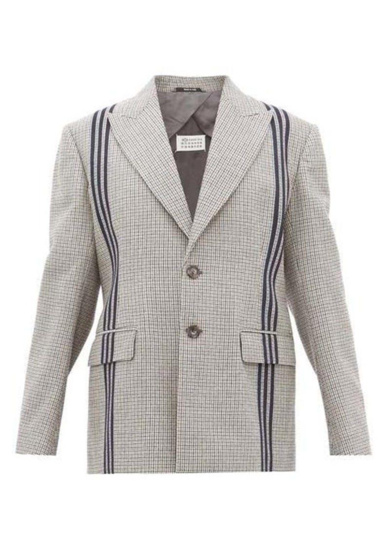 Maison Margiela Striped single-breasted houndstooth wool jacket