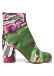 Maison Margiela Tabi flamingo-print split-toe leather boots