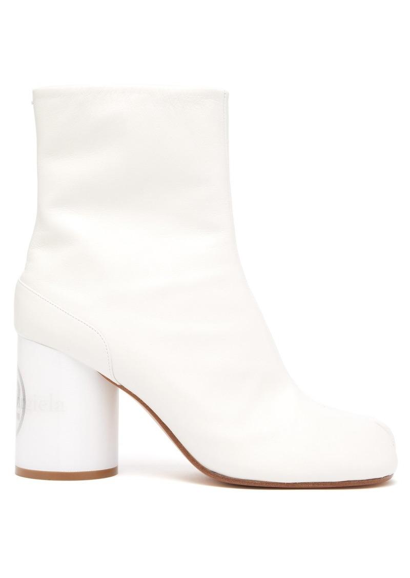 a0b8b8f4e3e Tabi holographic-heel slit-toe boots