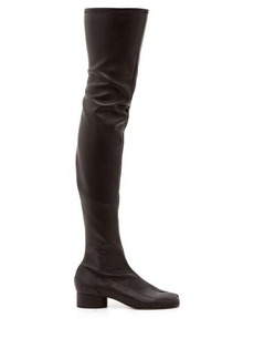 Maison Margiela Tabi split-toe over-the-knee leather boots