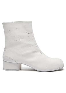 Maison Margiela Tabi split-toe painted-leather ankle boots