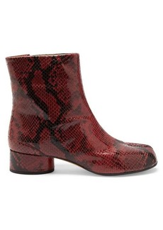 Maison Margiela Tabi split-toe python-effect leather boots