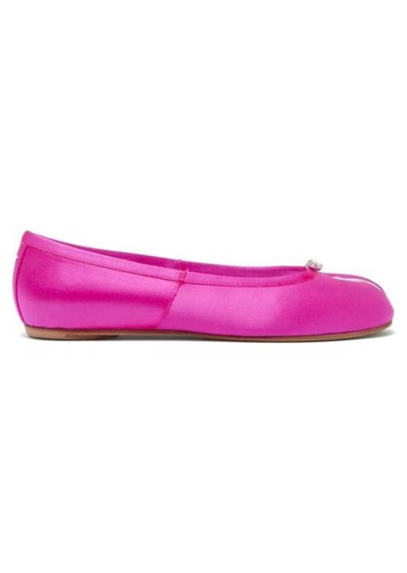 Maison Margiela Tabi split-toe satin ballet pumps