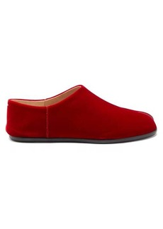 Maison Margiela Tabi split-toe velvet loafers