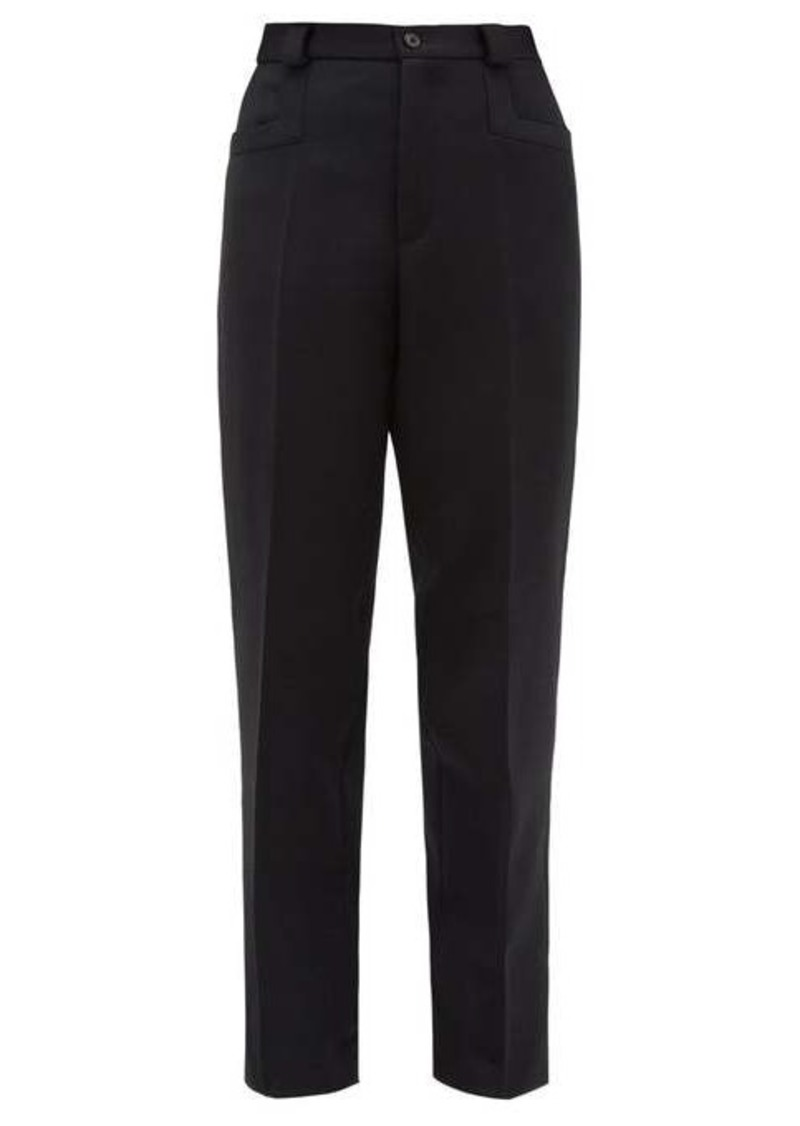 Maison Margiela Tailored wool straight-leg trousers