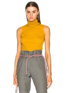 Maison Margiela Turtleneck Sleeveless Knit Top