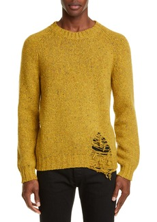 Maison Margiela Unraveled Wool Blend Sweater