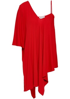 Maison Margiela Woman Asymmetric Stretch-crepe Top Red
