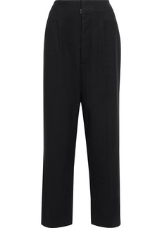 Maison Margiela Woman Brushed Wool-twill Straight-leg Pants Black