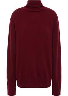 Maison Margiela Woman Cashmere Turtleneck Sweater Plum