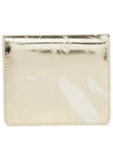 Maison Margiela Woman Coated Mirrored-leather Wallet Gold