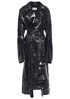Maison Margiela Woman Coated Shell Trench Coat Black