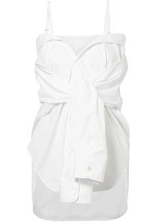 Maison Margiela Woman Convertible Cotton-poplin Shirt White