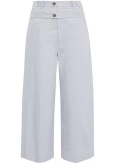 Maison Margiela Woman Cotton-twill Straight-leg Pants Lilac