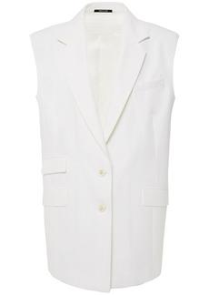 Maison Margiela Woman Cotton-twill Vest Ivory