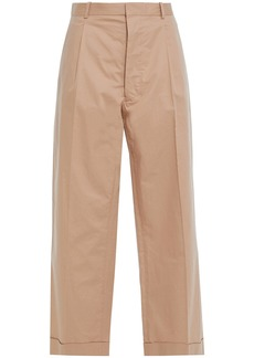 Maison Margiela Woman Cropped Cotton-twill Straight-leg Pants Sand