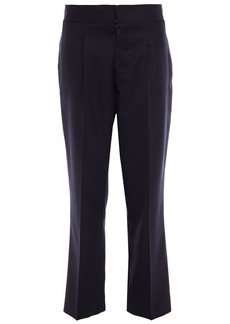 Maison Margiela Woman Cropped Wool-blend Twill Straight-leg Pants Midnight Blue