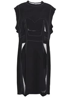 Maison Margiela Woman Cutout Frayed Stretch-crepe Dress Black