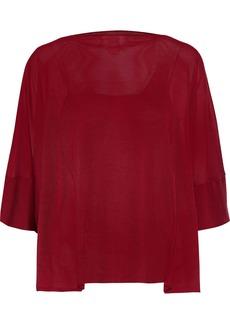 Maison Margiela Woman Draped Silk Sweater Claret