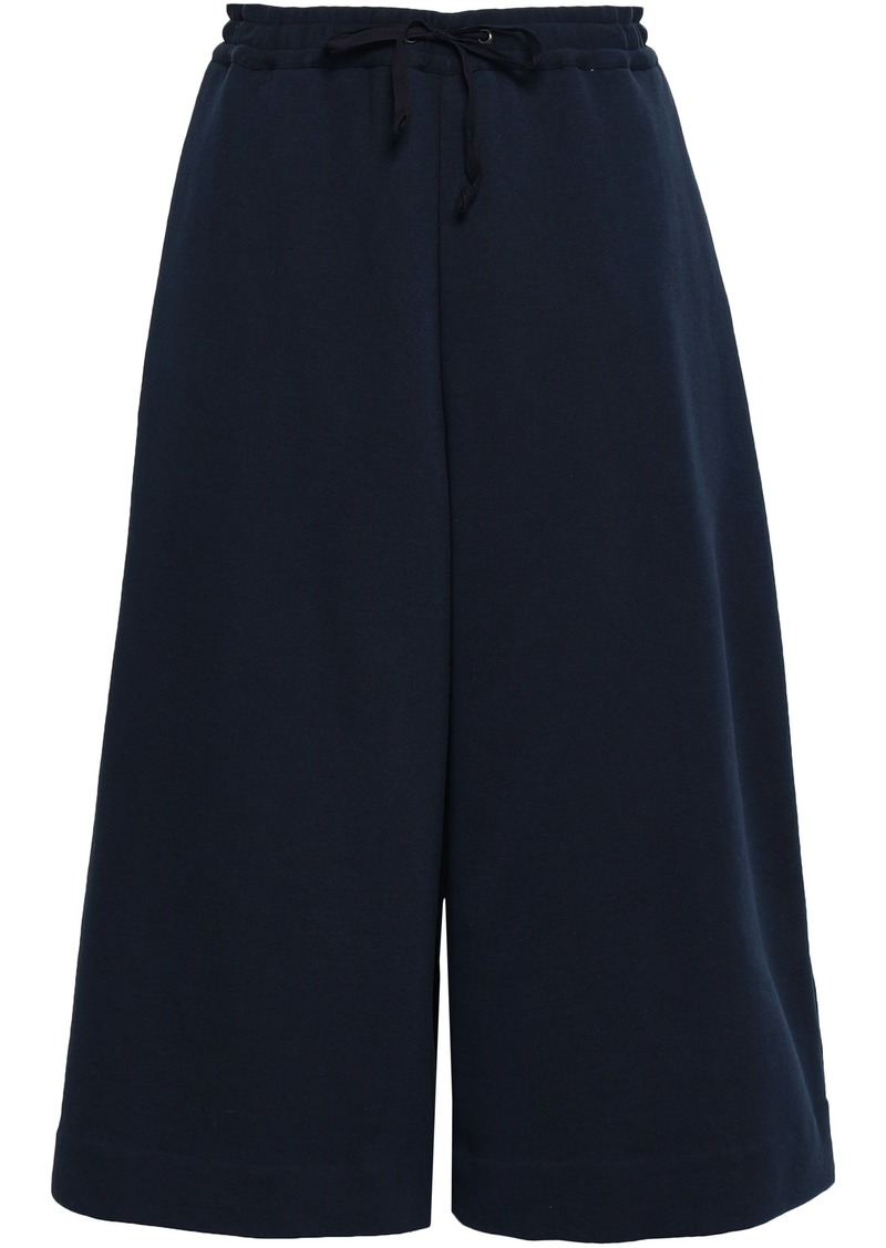 Maison Margiela Woman French Cotton-terry Culottes Midnight Blue