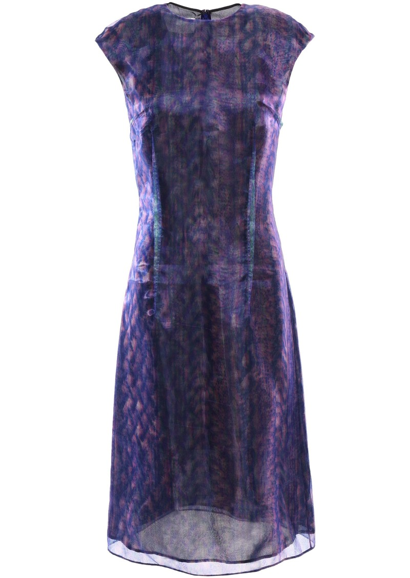 Maison Margiela Woman Layered Holographic Organza Dress Purple